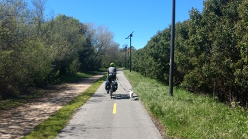 Long run for Monte on the Obern Bike Trail