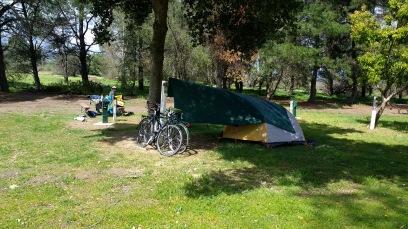 Setup at San Lorenzo County Park Campground