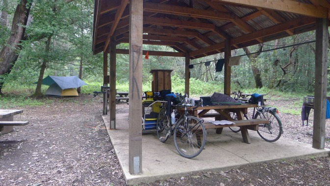 The hike bike area at Standish Hickey