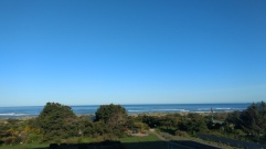 Morning view from the Gold Beach Inn