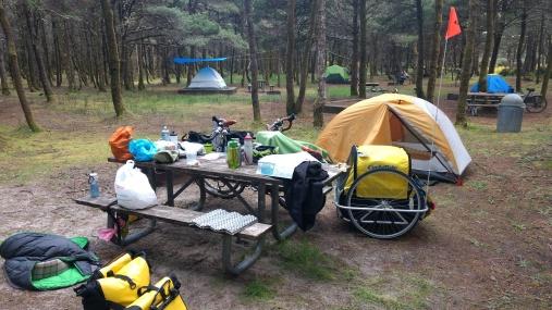 Nehalem Bay State Park campsite