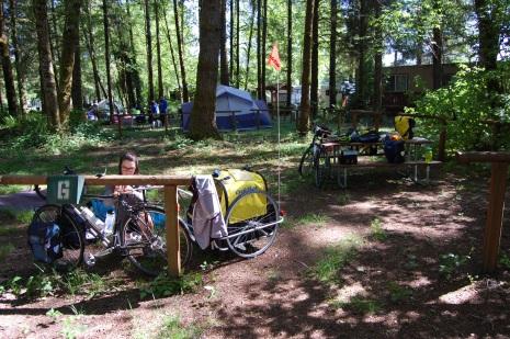 Camptsite at Toutle