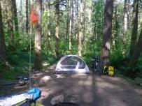 Campsite at Lewis & Clark